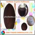pura pulpa de madera de sodio ligno sulfonato de sodio para el cuerpo de cerámica agente adhensive