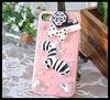 Ebay cina 3D Diamond Bling Pink Zebra Lovely cell phone case for iphone 5/5s cover