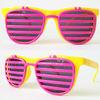 Neon shutter shade flip sunglasses