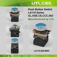 LA110-B4-BW33-B5 12V Electrical Push Button Rotary Switch