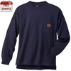 long sleeve men's pocket workwear 95 cotton 5 spandex t shirts