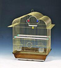 Golden metal bird cage 37X28X44cm