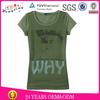 Custom printing women's plain o neck t-shirt in comfortable