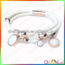 Newest Fashion 2014 Cheap Leather Wrap Bracelets For Woman