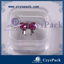 High quality decorative transparent plastic jewelry box membrane storage box(CPK-M-5525 )