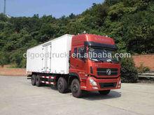 Dongfeng 8x4 fridge van truck 52CBM