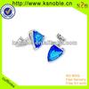 Fashion pretty shinny blue jewelry mens cuff links