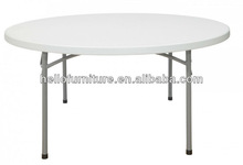 "60"" Round Heavy Duty Ultra Blow Molded Commercial Plastic Folding Table"