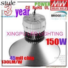High quality products! Bridgelux chip & Meanwell driver 30W 50W 80W 100W 120W 150W LED High Bay Lighting