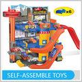 miúdos novos brinquedos inovadores diy estacionamento garagem modelo com 6 carros de plástico para o miúdo gw342488