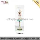 Fashionable Printing Skirt Wooden Mannequin Jewelry Display