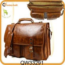 wholesale top grain leather office bags for men