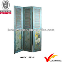 FSC Wood Shabby Chic French Country Folding Screen,Room Divider