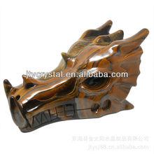 Natural tiger crystal dragon head skulls dedicated to ward off bad luck
