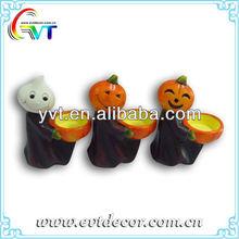 Ceramic Halloween Pumpkin Ghost