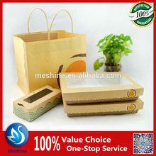 Disposable kraft paper food box/paper food packaging