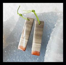 Gemstone Factory Supplier Handmade Natural Fashion Jewelry Loose Gemstones Ocean Jasper Rectangle Earring Beads