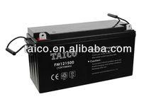 FM12150 vrla battery 12v 150ah Maintain Free Lead Acid Ups Battery for Solar Inverter