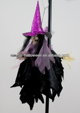 halloween hanging witch with broom dolls