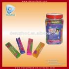 Sticker bubble gum with sticker