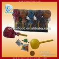 pirulito gigante em forma de brinquedo candy com tatuagem e pequenos brinquedos
