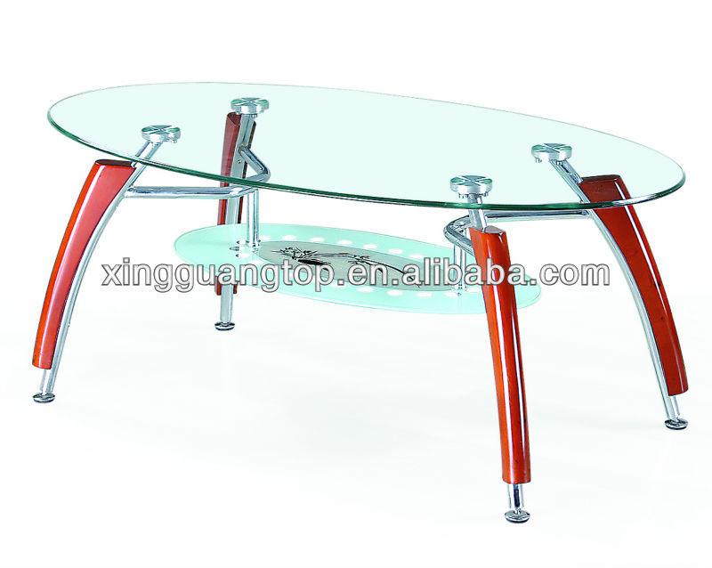 Metal furniture legs modern - Shaped Glass Coffee Table With Chrome Legs Buy Modern Design Metal