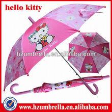 cute children kitty Umbrella,lovely manual open kid umbrellas