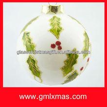 2015 hot sale beautiful design christmas ornament glass ball craft,Trade Assurance supplier