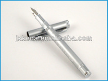 2014 supply low cost metal pen silver plated fountain pen with silver tip