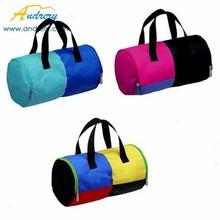 barrel shape canvas simple design sports travel bags