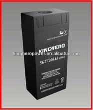 2V200AH Super Solar Power House Hard Rubber Lead Acid Battery