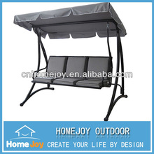 Hot sale 3 person garden swings with canopy