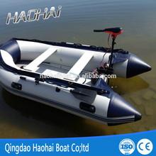 10.8ft 330cm 5 people rigid aluminum hull inflatable fishing boat