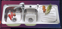 foshan 304# double bowl stainless steel kitchen sink(11246)
