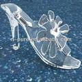 elegante tacón alto sandalias de cristal