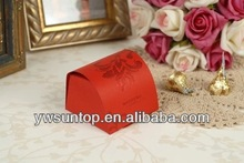 2015 Newest high quality promotional originality red wedding favors paper candy boxes