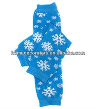 bebé pierna warmersblue patrón de la nieve