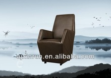 living room chair,pu cover with caster,leisure chair