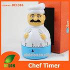 Chef shape kitchen timer