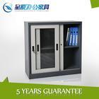 Metal 2 sliding glass door dust-proof file storage ironing board cabinet