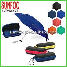 5 folding lightweight aluminum umbrella case