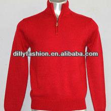 Gr6018 hiver nouveau style lumineux couleur man mock neck zipper pull