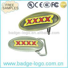 custom copper metal military belt buckle