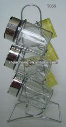 6 pcs 110ml colorful plastic camp glass cruet