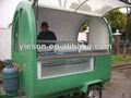 Kiosco móvil carrito de comida/carrito de comida ys-fv165 acoplado
