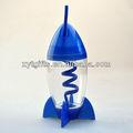 el elemento nuevo espacio 10oz modelo de cohete de paja con el color de cualquier material de calidad alimentaria