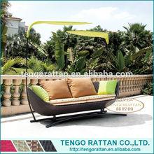 outdoor PE rattan furniture garden sofa patio leisure sun bed(TG0078-18)