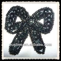 sequins bows applique,handmade bow applique patterns