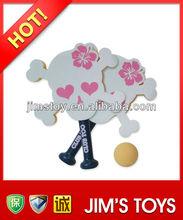 Skull shape sponge beach racket soft toy