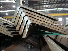 Unequal Q255 carbon steel angle with milled surface finish on stock